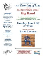 Big Band Evening of Jazz flyer