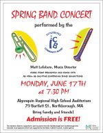 Interboro Band spring concert flyer