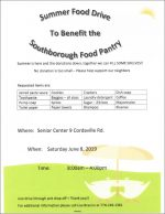 Summer Food Drive flyer