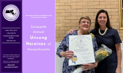 "Post image for Southborough's ""Unofficial Mayor"" honored as one of the state's Unsung Heroines"