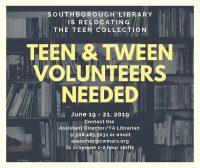 Teen and Tween volunteers needed