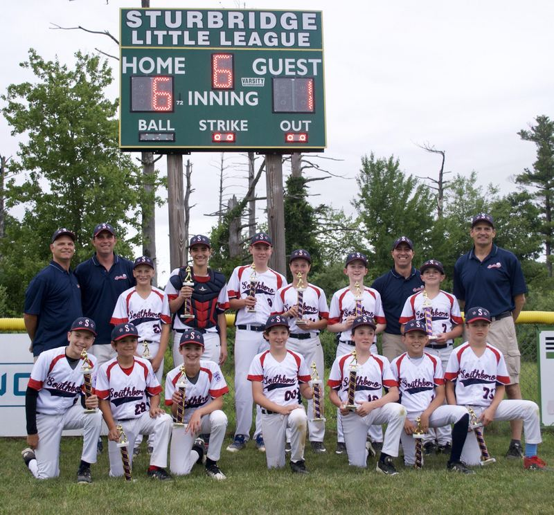 12 year old Southborough Baseball champions