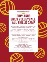 ARHS Girls Volleyball All Skills poster