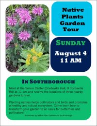 Native Plants Garden Tour 2019 flyer