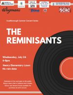 The Reminisants concert flyer