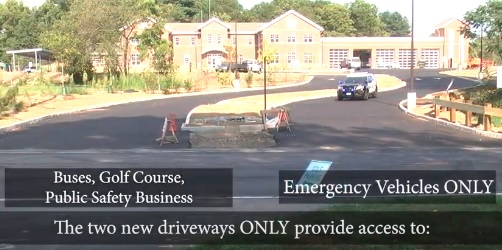 Post image for Driveways to public safety complex, golf course, and Woodward explained
