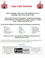 Finn Fall Festival Flyer 2019