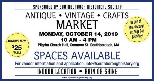 Post image for Exhibit at Historical Society's Heritage Day <em>fancy flea</em> market – <em>(or donate items for SHS to sell)</em>