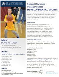 Special Olympics Mass Developmental Sports