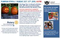 Rotary's Pumpkin Stroll flyer