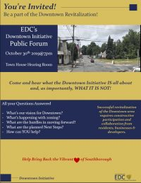 Downtown Initiative forum flyer