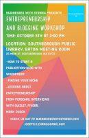 Entrepreneurship and blogging workshop flyer