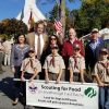 Before marching officials posed with scouts (from Senator Jamie Eldridge's Facebook post)