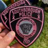 Southborough Police sold pink patches for Breast Cancer research and awareness (contributed by Robert Bussey)