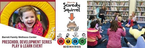 Post image for Library fun for Preschoolers: Play & Learn; Young Scientists; interactive theater; storytimes and more