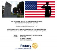 Rotary's Salute to Veterans flyer