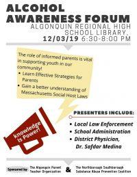 Alcohol Awareness Forum flyer