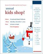 Annual Kids Shop flyer