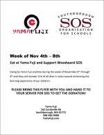Yama Fuji WW SOS fundraiser flyer