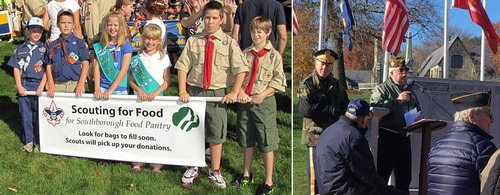 Post image for Long Weekend at Glance: Scouting for Food, Drama Out of the Box, Windsor Chair Making, Wilson Drive dedication, and honoring Veterans Day