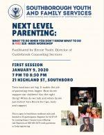 SYFS Next Level Parenting workshop series