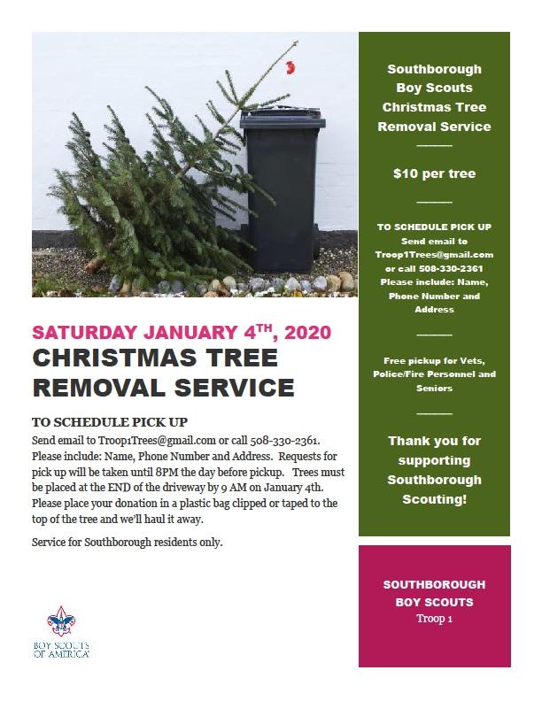 Christmas Tree pickup – January 4th