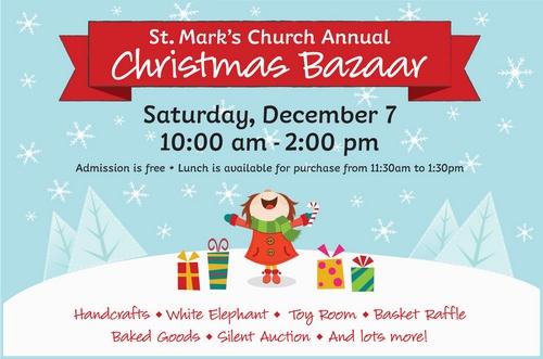 Post image for St. Mark's Church's annual Christmas Bazaar – Saturday
