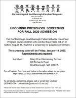 preK screening flyer