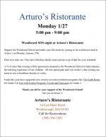 Arturos WW fundraiser flyer