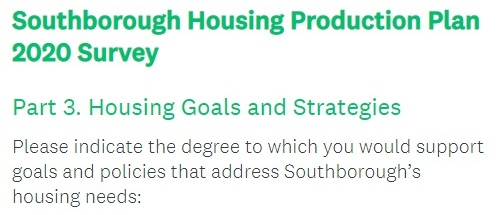 Post image for Weigh in on Town's housing needs and strategies to meet 40B thresholds – Quick survey