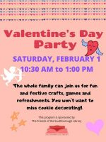 Southborough Library Valentine's party