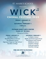 Wick Choral Festival 2020 flyer