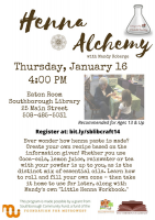 henna alchemy flyer