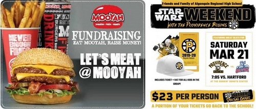 """Post image for APTO Fundraiser Update: Mooyah tonight, Providence Bruins """"Star Wars weekend"""" coming up"""