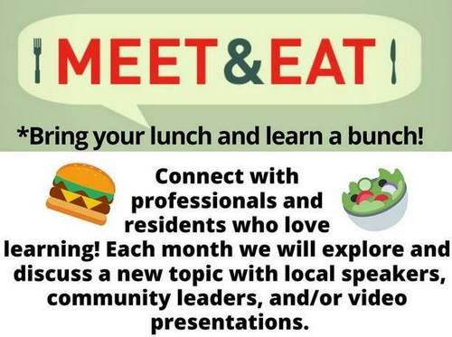 "Post image for Library launching social/educational lunches – ""Meet & Eat"" this Monday"