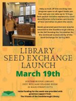 Southborough Library seed exchange flyer