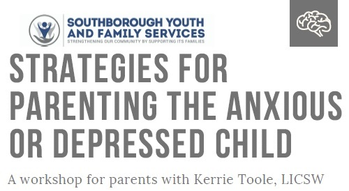 Post image for Reminder: Parenting the anxious or depressed child workshop series