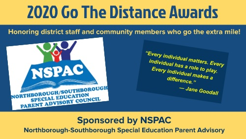 "Post image for NSPAC honoring those who went ""the Distance"" this year for special needs students"