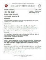 SFD Emergency Press Release