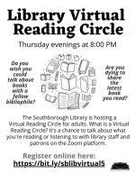 Virtual Reading Circle flyer