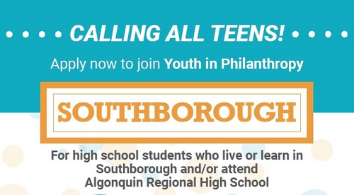 Post image for Youth in Philanthropy: High schoolers, apply to join Southborough based group of philanthropists