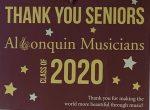 ARHS musician class of 2020 yard sign