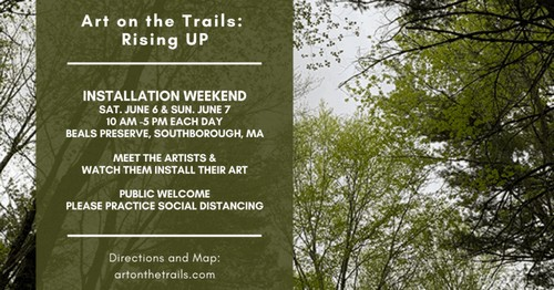 "Post image for Watch art ""Rising Up"" on the trails this weekend"