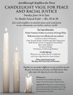 candlelight vigil for peace and racial justice updated flyer