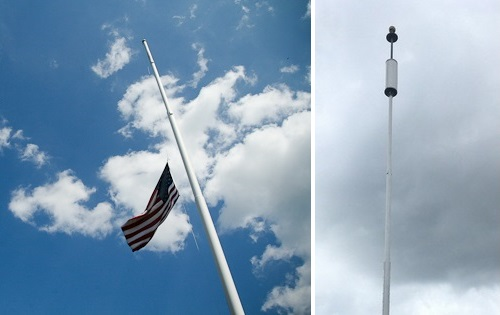 "Post image for Town House flagpole: Why it looks ""funny""; Selectmen to discuss revamped cell tower proposal"