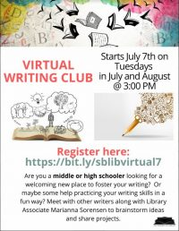 Virtual Writing Club Flyer