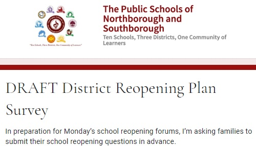 Post image for Reopening Plans: Deadline Sun 2pm for Qs to be answered at Mon forums; Another Survey request (Updated)
