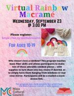 rainbow macrame flyer