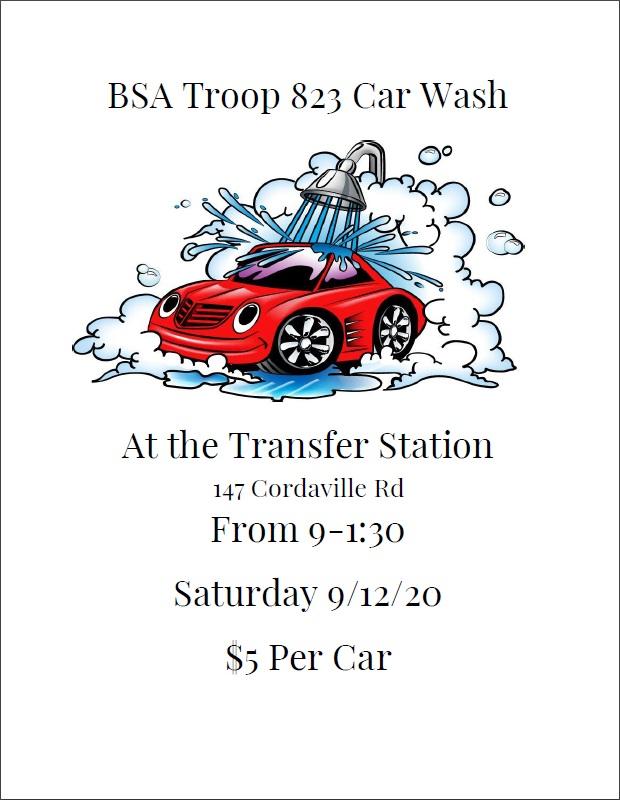 car wash flyer BSA Troop 823