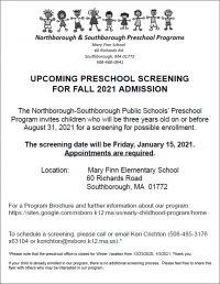 Preschool screening flyer